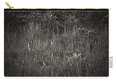 Carry-all Pouch featuring the photograph Two Deer Hiding by Bradley R Youngberg