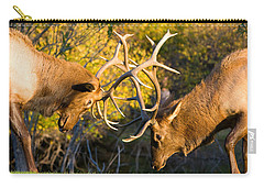 Two Elk Bulls Sparring Carry-all Pouch