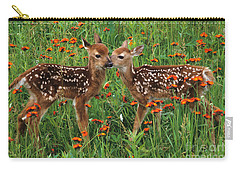 Two Fawns Talking Carry-all Pouch