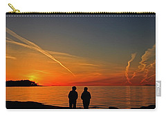 Two Friends Enjoying A Sunset Carry-all Pouch