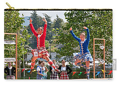 Two Girls Scottish Dancing Art Prints Carry-all Pouch