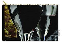 Two Glasses With Red Wine Carry-all Pouch