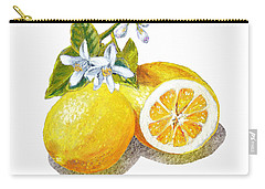 Two Happy Lemons Carry-all Pouch by Irina Sztukowski