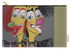 Carry-all Pouch featuring the painting Two Heads Are Better Then One by Nora Shepley