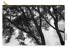 Two Heron - Black And White Carry-all Pouch