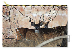 Carry-all Pouch featuring the photograph Two In The Bush by Jim Garrison