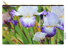 Carry-all Pouch featuring the photograph Two Iris by Patricia Babbitt