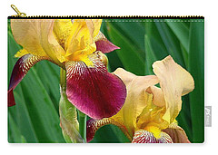 Two Iris Carry-all Pouch by Rodney Lee Williams