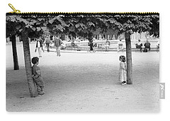 Two Kids In Paris Carry-all Pouch