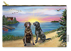 Two Labs At The Lake Carry-all Pouch