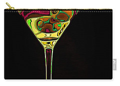 Carry-all Pouch featuring the digital art Two Olive Martini by Dragica  Micki Fortuna