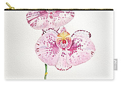 Two Orchids Carry-all Pouch by Michele Myers