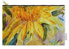 Two Sunflowers Carry-all Pouch by Beverley Harper Tinsley
