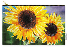 Two Suns Sunflowers Carry-all Pouch