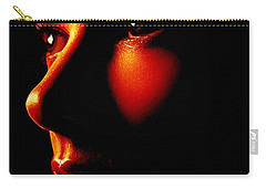 Two Tone Portrait Carry-all Pouch by Richard Thomas