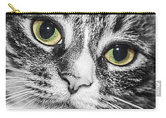 Two Toned Cat Eyes Carry-all Pouch by Jeannette Hunt