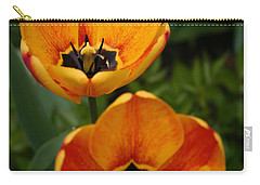 Two Tulips Carry-all Pouch by Denyse Duhaime