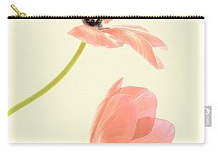 Two Tulips In Pink Transparency Carry-all Pouch