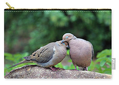 Two Turtle Doves Carry-all Pouch by Cynthia Guinn