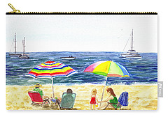Two Umbrellas On The Beach California  Carry-all Pouch