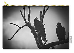 Carry-all Pouch featuring the photograph Two Vultures by Bradley R Youngberg