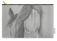 Two Wild Horses Carry-all Pouch