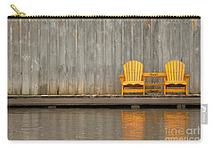 Two Wooden Chairs On An Old Dock Carry-all Pouch