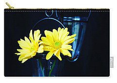 Two Yellow Daisies Carry-all Pouch by Kerri Mortenson