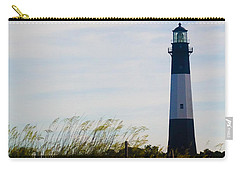 Tybee Island Lighthouse Carry-all Pouch by Jessica Brawley