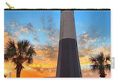 Tybee Island Sunrise Carry-all Pouch by Gordon Elwell