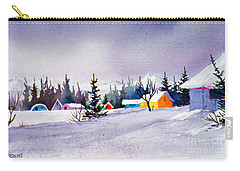 Carry-all Pouch featuring the painting Tyonek Village Impression by Teresa Ascone