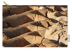 Carry-all Pouch featuring the photograph Tyre Art - Bulldozer Tyre Marks by Ramabhadran Thirupattur