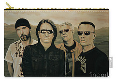 U2 Silver And Gold Carry-all Pouch by Paul Meijering