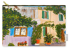 Carry-all Pouch featuring the painting Umbera Courtyard by Pamela  Meredith