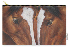 Carry-all Pouch featuring the painting Unbridled Affection by Kim Lockman