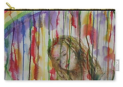 Carry-all Pouch featuring the painting Under A Crying Rainbow by Anna Ruzsan
