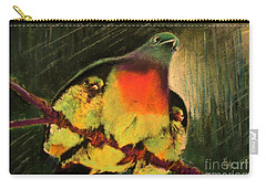 Carry-all Pouch featuring the painting Under His Wings by Hazel Holland
