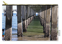Carry-all Pouch featuring the photograph Under The Boardwalk by Ed Weidman