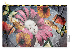 Carry-all Pouch featuring the digital art Under The Bubblemoon by Barbara Orenya