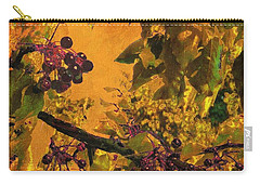 Under The Chokecherry Tree Carry-all Pouch by Janette Boyd