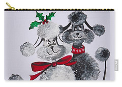 Under The Mistletoe Carry-all Pouch by Leslie Manley