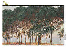 Under The Pines. Evening Carry-all Pouch by Claude Monet