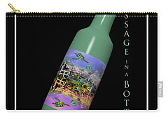 Under The Sea Message In A Bottle Carry-all Pouch by Betsy Knapp