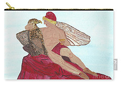 Carry-all Pouch featuring the painting Under The Wings Of Love by Tracey Williams