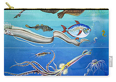 Underwater Creatures Montage Carry-all Pouch by English School