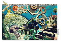Carry-all Pouch featuring the digital art Underwater Dreams by Ally  White