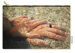 Carry-all Pouch featuring the photograph Underwater Hands by Leticia Latocki