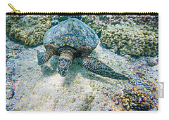 Swimming Turtle Carry-all Pouch by Denise Bird