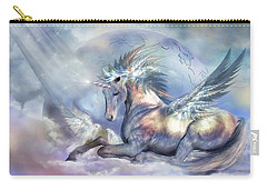 Unicorn Of Peace Carry-all Pouch by Carol Cavalaris