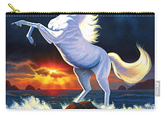 Unicorn Raging Sea Carry-all Pouch by Chris Heitt